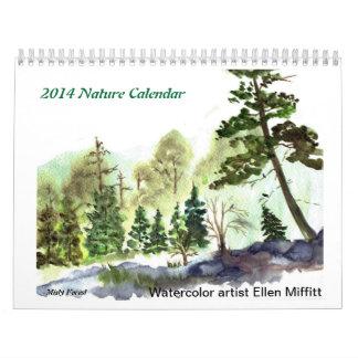 2014 Nature Calendar - Watercolor Paintings