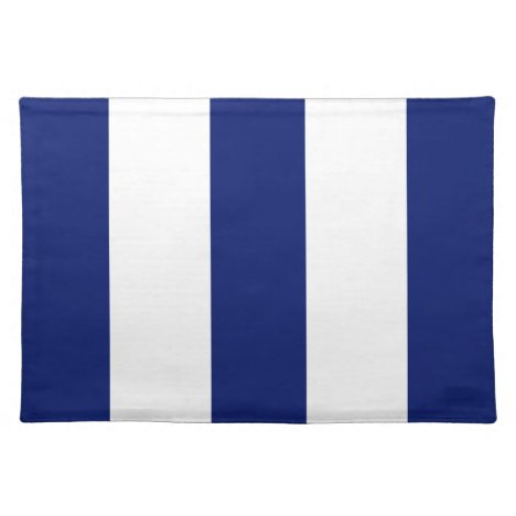 2014 Navy Blue 2 & White Stripe Placemat Gift