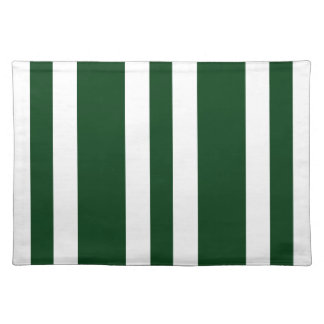 2014 New Hunter Green & White Stripe Placemat Gift