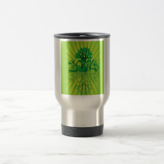 2014 New Year Numerals Go Green Symbols with Tree Travel Mug