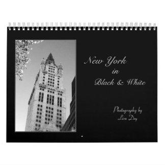 """2014 """"Nueva York en"""" calendario negro y blanco"""