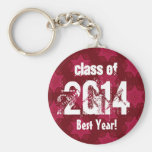 2014 or Any Year Custom Sentiment Best Year Key Chain