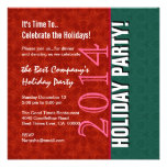 2014 or Any Year Office Holiday Party Red Green Personalized Invitation
