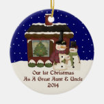 2014 Our 1st Christmas As A Great Aunt & Uncle Christmas Tree Ornament