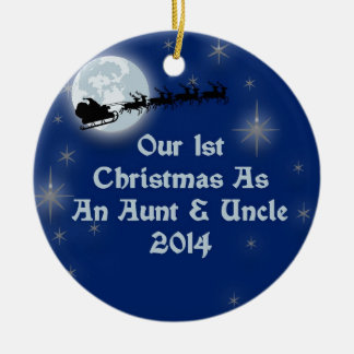 2014 Our 1st Christmas As An Aunt and Uncle Christmas Tree Ornaments