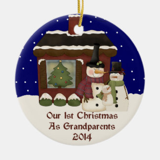2014 Our 1st Christmas As Grandparents Christmas Ornaments