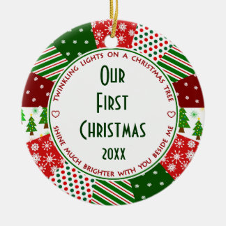 2014 Our First Christmas-Couple's Christmas Ornaments