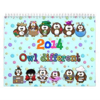 2014 owl different calendar