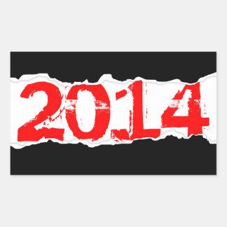 2014 (page tear) rectangular sticker