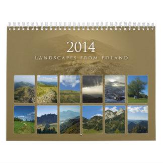 2014 paisajes de Polonia - calendario
