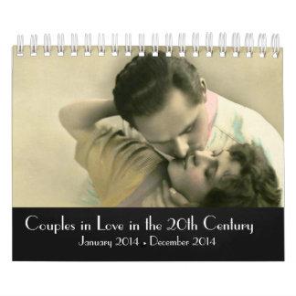 2014 pares en amor en el siglo XX Calendario