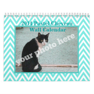 2014 Pastel Chevrons Make Your Own Wall Calendar