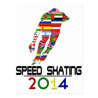 2014: Patinaje de velocidad Tarjeta Postal