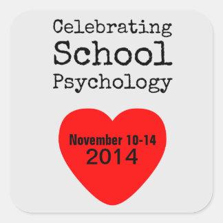 2014 pegatinas de la semana de la psicología de la calcomanía cuadradas personalizadas