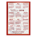 2014 Piano Let Music Fill Air Pocket Calendar Business Card
