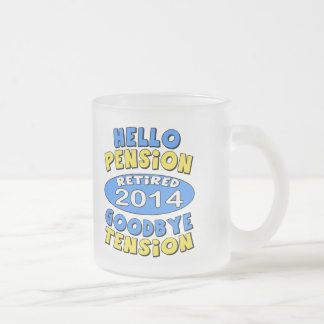 2014 Retirement 10 Oz Frosted Glass Coffee Mug