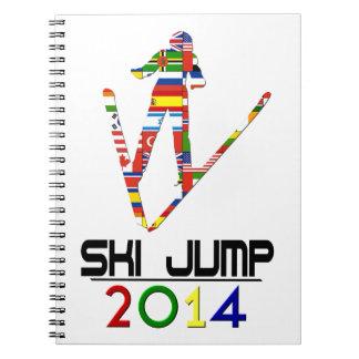 2014 Salto de esquí Libro De Apuntes Con Espiral