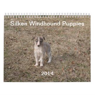 2014 Silken Windhound Puppies 1-2 Wall Calendars
