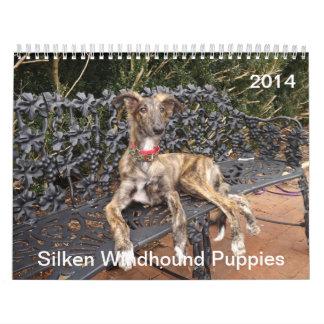 2014 Silken Windhound Puppies 2-4 Wall Calendar