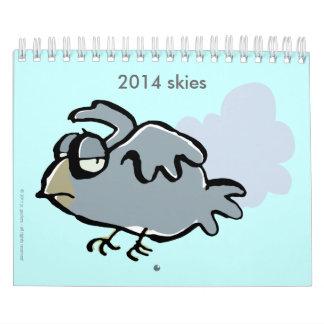 2014 skies (customizable text) calendar