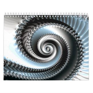 2014 Spiral Fractal Custom Printed Calendar