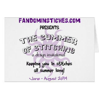 2014 Summer of Stitching Greeting Card