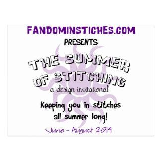 2014 Summer of Stitching Postcard
