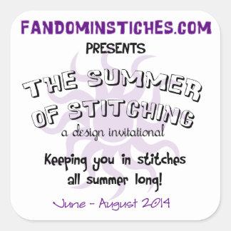 2014 Summer of Stitching Square Sticker