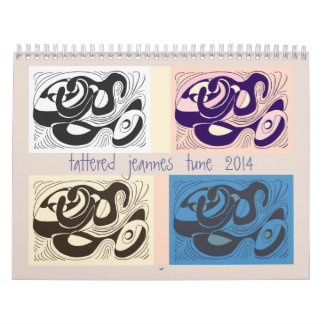 2014 tattered jeannes tune calendar