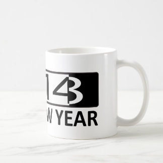 2014 tazas de la Feliz Año Nuevo