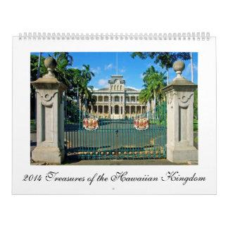 2014 tesoros del calendario hawaiano del reino