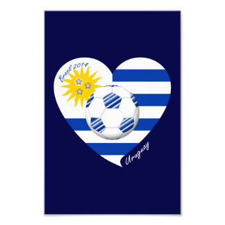 2014 URUGUAY SOCCER flag sun of May and ball Photographic Print
