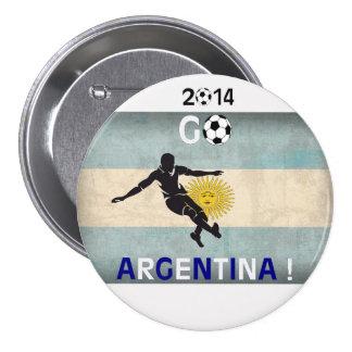 ¡2014 va la Argentina! Pin Redondo De 3 Pulgadas