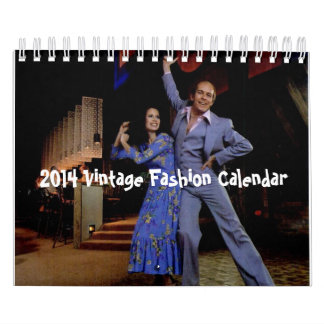 2014 Vintage Fashion Calendar