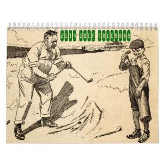 2014 Vintage Golf Calendar