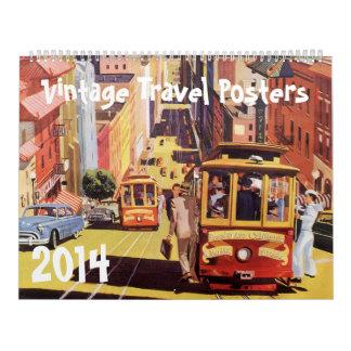 2014 Vintage International Travel Poster Calender Calendar