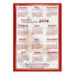 2014 Violin Let Music Fill Air Pocket Calendar Business Card Template