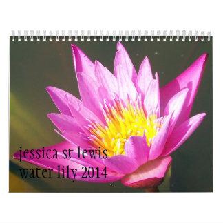 2014 Water Lily Calendar