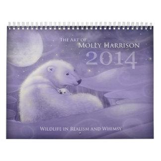 2014 Whimsical Wildlife Wall Calendars