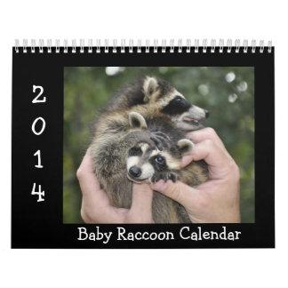 2014 Wildlife Calendar - Baby Raccoons
