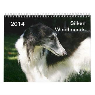 2014 Windhounds de seda 2-3 Calendarios