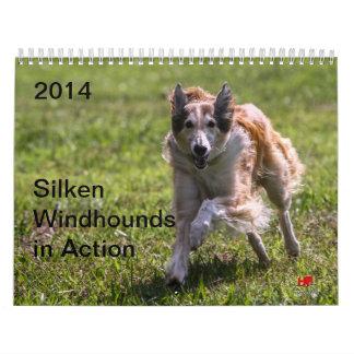 2014 Windhounds de seda en la acción 1-6 Calendarios