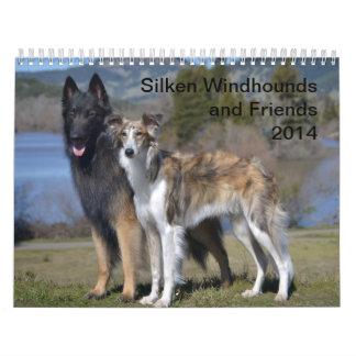 2014 Windhounds de seda y amigos 1-2 Calendarios