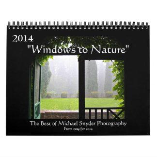 """2014 """"Windows calendarios de la naturaleza"""""""