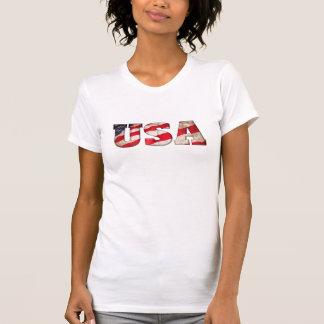 2014 Winter Olympics! USA (Amercian flag in text) Tee Shirt