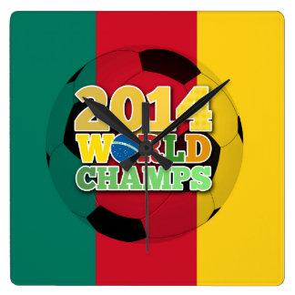 2014 World Champs Ball - Cameroon Square Wallclock