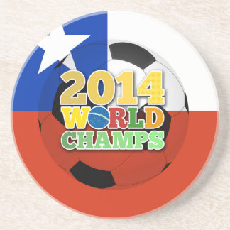 2014 World Champs Ball - Chile Drink Coasters