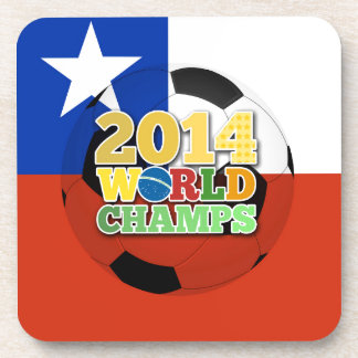 2014 World Champs Ball - Chile Beverage Coasters