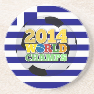 2014 World Champs Ball - Greece Beverage Coaster