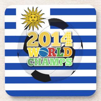 2014 World Champs Ball - Uruguay Beverage Coasters